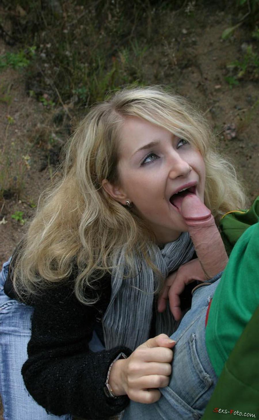 свежие фотографии девушка сосет член на улице жалели